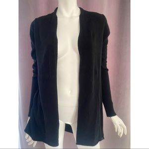 Fresh Produce Black Open Cardigan size XS
